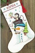 Jolly Trio Christmas Stocking - Cross Stitch Kit