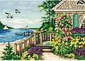 Bayside Cottage - Gold Collection Petites Cross Stitch Kit