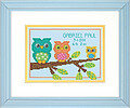 Owl Birth Record - Cross Stitch Kit