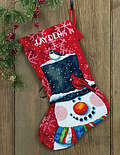 Snowman And Friends Christmas Stocking - Needlepoint Kit