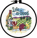 Life is Good Learn-A-Craft - Beginner Cross Stitch Kit