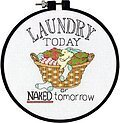 Laundry Today Learn-A-Craft - Beginner Cross Stitch Kit