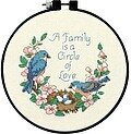 Family Love Learn-A-Craft - Beginner Cross Stitch Kit