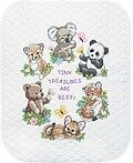 Baby Animals Quilt Stamped Cross Stitch Kit