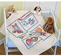 Little Sports Quilt Stamped Cross Stitch Kit