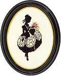 Girl Silhouette - Cross Stitch Kit