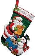 Santa's List - Christmas Stocking Felt Applique Kit