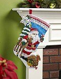 Nordic Santa Christmas Stocking - Felt Applique Kit