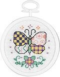 Patchwork Butterfly Mini - Cross Stitch Kit