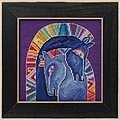 Embracing Horses (Linen) - Cross Stitch Kit