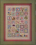 Spring Alphabet (with Embellishments) - Cross Stitch Pattern