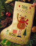 Reindeer Stocking - Cross Stitch Pattern