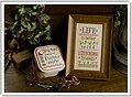 Life is Better Inspirational Boxer - Cross Stitch Kit