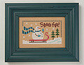6 Fat Men Series - Snow Fun - Cross Stitch Pattern