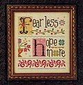 Less = More - Fear Less Hope More - Cross Stitch