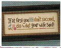 Do What Your Wife Said - Cross Stitch Pattern