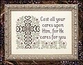 Cast All Your Cares - Cross Stitch Pattern