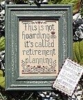 Retirement Planning - Cross Stitch Pattern