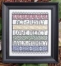 Walk Humbly - Cross Stitch Pattern