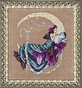 Moon Flowers - Cross Stitch Pattern
