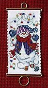 Joy Snowman - Beaded Cross Stitch Kit