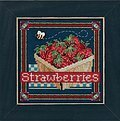 Strawberries - Beaded Cross Stitch Kit