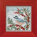 Nuthatch - Beaded Cross Stitch Kit