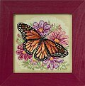 Winged Monarch - Beaded Cross Stitch Kit