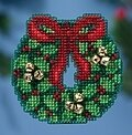 Jingle Bell Wreath - Beaded Cross Stitch Kit