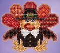 Tom Turkey - Beaded Cross Stitch Kit