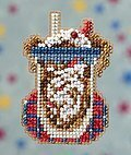 Root Beer Float - Beaded Cross Stitch Kit