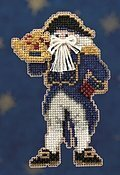 Captain Santa - Beaded Cross Stitch Kit