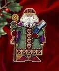 Saxony Santa - Medieval Santas - Beaded Cross Stitch Kit
