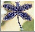Rainbow Dragonfly - Beaded Cross Stitch Kit