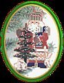 Pine Tree Santa - Beaded Cross Stitch Kit