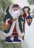Glacier Santa - Beaded Cross Stitch Kit