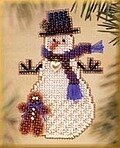 Gingerman Snow Charmer - Beaded Cross Stitch Kit