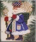 Frosty Santa - Woodland Santas - Beaded Cross Stitch Kit