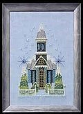 Little Snowy Blue Church - Cross Stitch Pattern