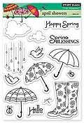 April Showers - Clear Stamp