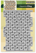 Brick Wall (Background) - Slapstick Cling Rubber Stamp