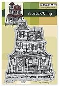 Haunted House (Halloween) - Slapstick Cling Rubber Stamp