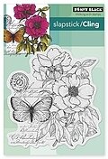 Botanical Notes - Slapstick Cling Rubber Stamp