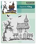 Dark House Halloween - Slapstick Cling Rubber Stamp