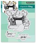 Sew Much Fun - Slapstick Cling Rubber Stamp
