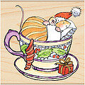 Christmas In A Cup - Rubber Stamp