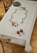 Elves in Forest Table Cloth - Cross Stitch Kit