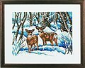 Winter & Deer - Cross Stitch Kit