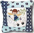 Tooth Fairy Pillow (Blue Version) - Cross Stitch Kit