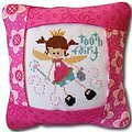 Tooth Fairy Pillow (Pink Version) - Cross Stitch Kit